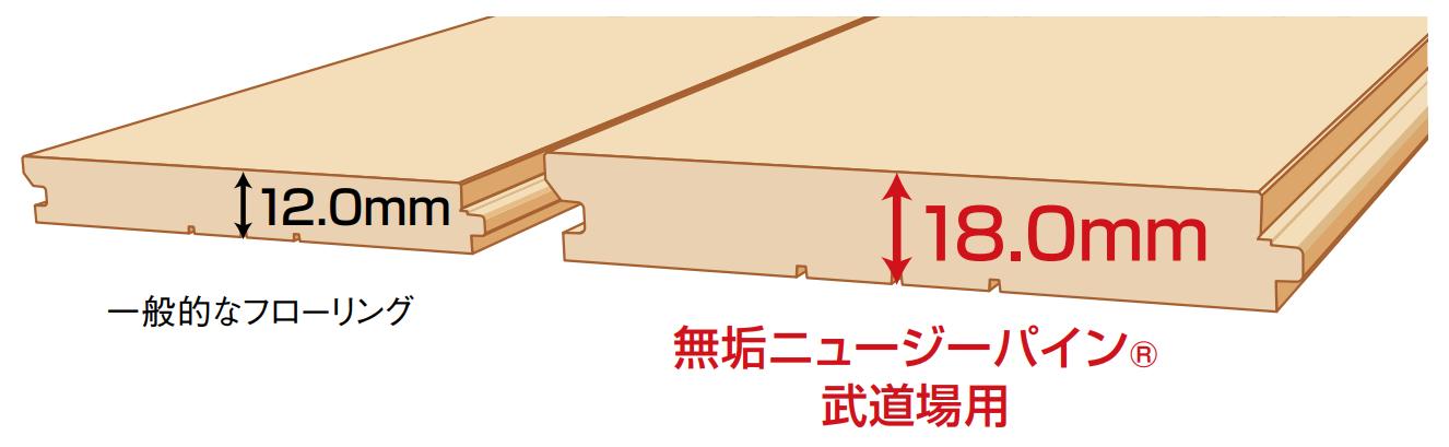 NP武道場用 厚み
