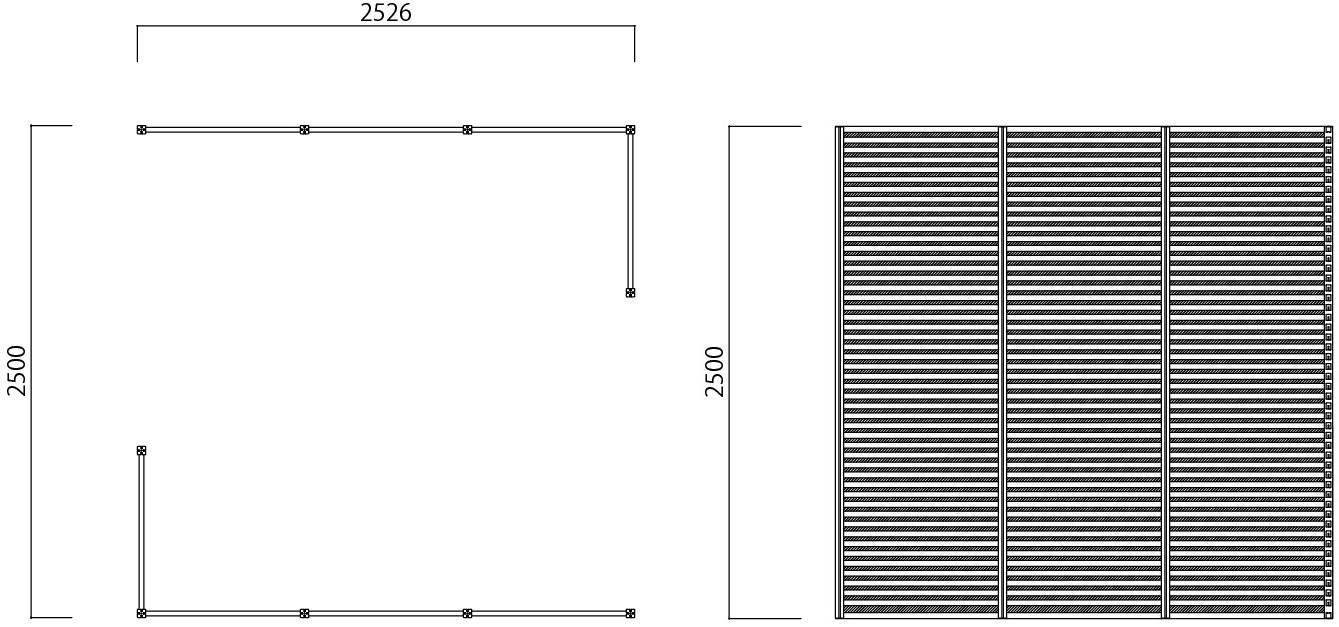 打ち合わせスペース2 寸法図