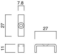 棚柱カバー 寸法図