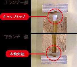 キャップトップ、木軸突起